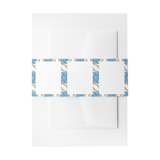 Stationery with Ornamented Border Design Invitation Belly Band