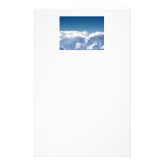 stationery with photo of the Kluane Mountains
