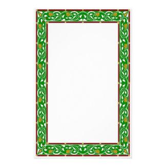Stationnaire vert celtique motifs pour papier à lettre