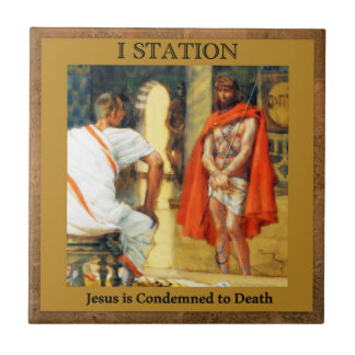 Stations of the Cross #1 of 15 Jesus is Condmned Tiles