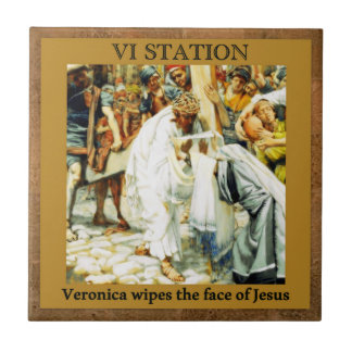 Stations of the Cross #5 of 15 Veronica Tile