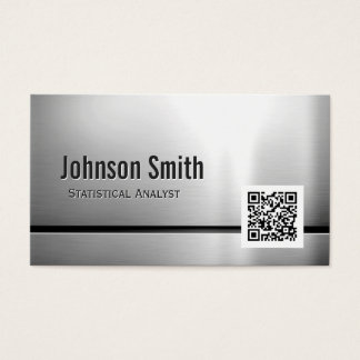 Statistical Analyst - Stainless Steel QR Code Business Card