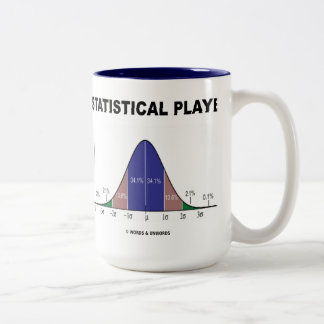 Statistical Player (Bell Curve Attitude) Two-Tone Coffee Mug