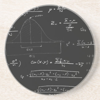 Statistics blackboard coaster