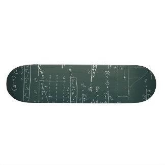 Statistics blackboard custom skate board