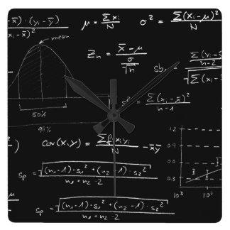 Statistics blackboard wallclocks