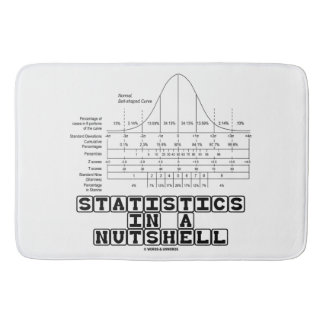 Statistics In A Nutshell Stats Cheat Sheet Bath Mat