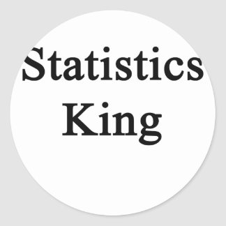 Statistics King Classic Round Sticker