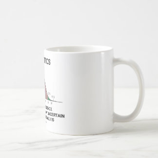 Statistics The Art & Science Of Finding Out Quote Basic White Mug