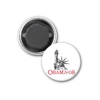 Statue 2008 de Barack Obama d'aimant de liberté Magnet Carré 2,50 Cm