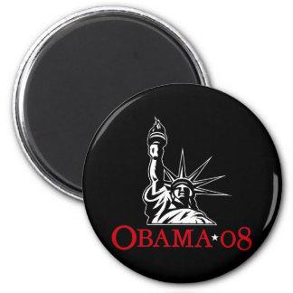 Statue 2008 de Barack Obama d'aimant de liberté Magnet Rond 8 Cm