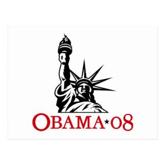 Statue 2008 de Barack Obama de carte postale de li