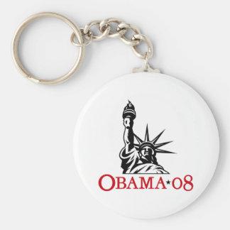 Statue 2008 de Barack Obama de la liberté Keychain Porte-clé