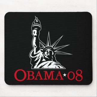 Statue 2008 de Barack Obama de la liberté Mousepad Tapis De Souris