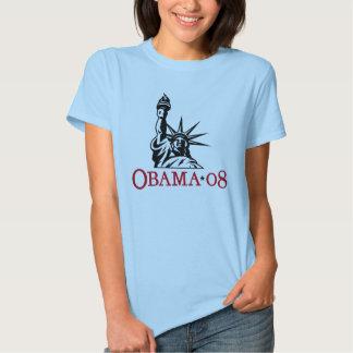 Statue 2008 de Barack Obama de T-shirt de liberté