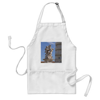 Statue and leaning Tower of Pisa Standard Apron