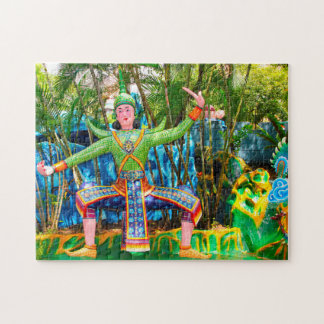 Statue Artwork Singapore. Jigsaw Puzzle