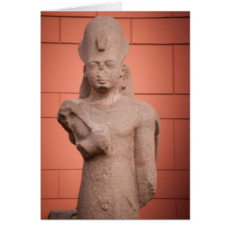 Statue at Egyptian museum, Cairo, Egypt Card
