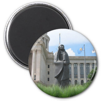 Statue At Oklahoma State Capital Magnet