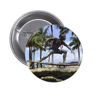 Statue at Waikiki beach button