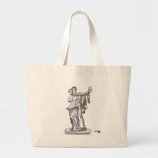 Statue Cartoon 9417 Large Tote Bag