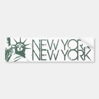 Statue d adhésif pour pare-chocs de New York des a Autocollants Pour Voiture