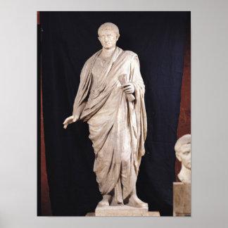 Statue de César Augustus Affiche