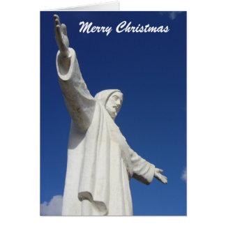 statue de Noël de Jésus Carte De Vœux