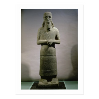 Statue dedicated to the god Haddad-Yishi (basalt) Postcard