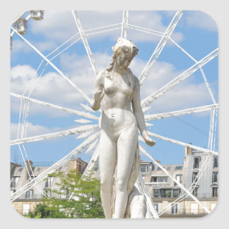 Statue depicting woman in Paris Square Sticker