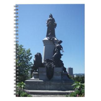 Statue in Montreal City Notebook