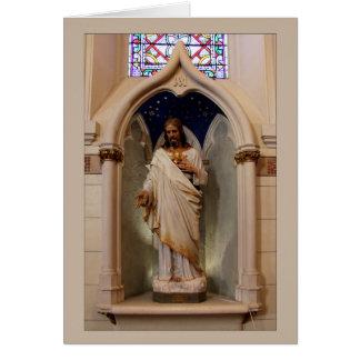 Statue in the Loretto Chapel Card