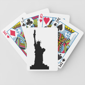statue-liberty bicycle playing cards