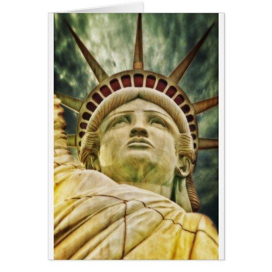 Statue Liberty New York City Peace Love Destiny Card