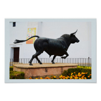 Statue of a bull poster