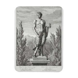 Statue of a Satyr holding a bunch of grapes, Versa Rectangular Photo Magnet
