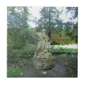Statue of a Welsh Druid at Erddig Hall Tile