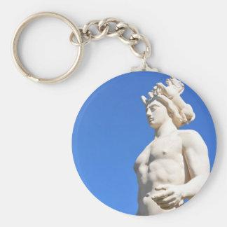 Statue of Apollo (Neptune) Basic Round Button Keychain