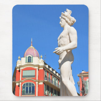 Statue of Apollo (Neptune) overlooking Place Masse Mouse Pad