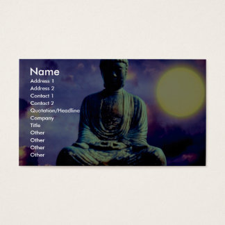 Statue of Buddha with sun Business Card