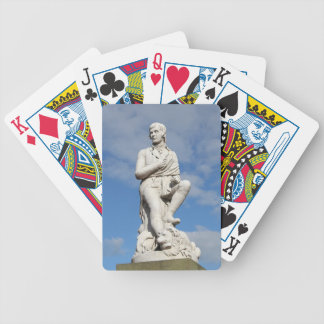 Statue of Burns Bicycle Playing Cards
