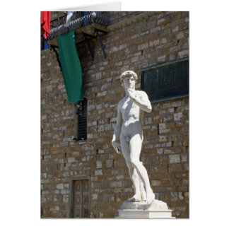 Statue of David at the Palazzo Vecchio Card