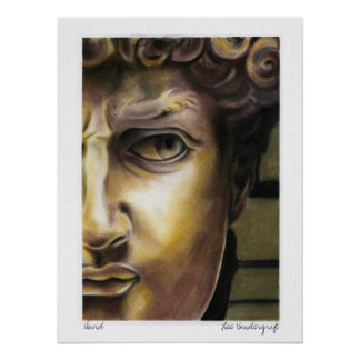 Statue of David by Lee Vandergrift Poster