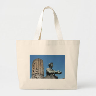 Statue of goddess Diana in Pompeii Large Tote Bag