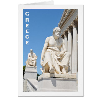 Statue of Greek philosopher Card