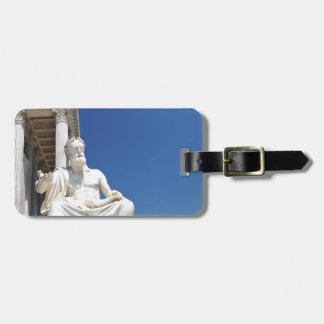 Statue of Greek philosopher Luggage Tag