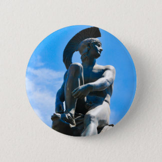 Statue of Greek soldier in Athens, Greece 2 Inch Round Button
