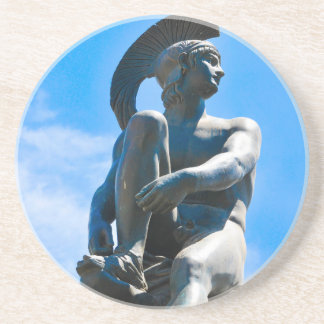 Statue of Greek soldier in Athens, Greece Coaster