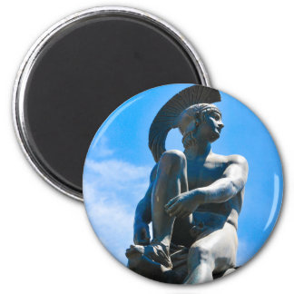 Statue of Greek soldier in Athens, Greece Magnet