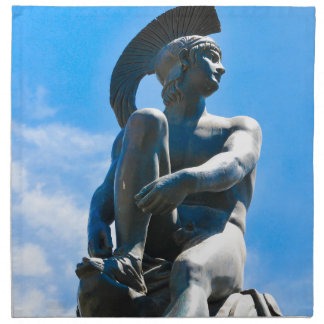 Statue of Greek soldier in Athens, Greece Napkin